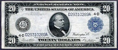 * ARTISTIC GORGEOUS* 1914 $20 High Quality Federal Reserve Note
