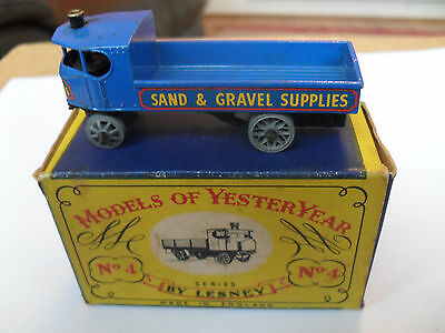 Matchbox Lesney Yesteryear Y-4 Sentinel Wagon Excellent Vnmint In V Good Box