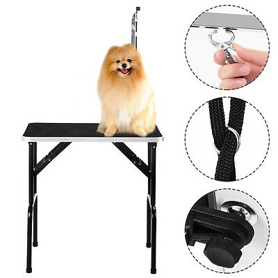 Folding Portable Dog Cat Pet Grooming Table Black Small Grooming Table Non Slip