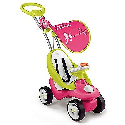 """Smoby 7600720102 """"Bubble Go"""" 2-In1 Girls Push Along Ride On Stroller Car **NEW**"""