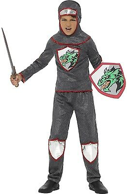 Boys Deluxe Medieval Knight Historical Book Day Fancy Dress Costume 4-12 yrs