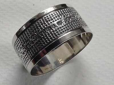 Antique Sterling Silver Napkin Ring by  Sheffield Maker Joseph Rodgers 1911
