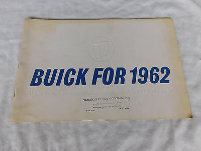 1962 Buick Car Brochure 38 Pages