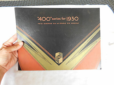 """400"" Series For 1930 Twin Ignition Six & Single Six Nash Car Brochure 24 Pages"
