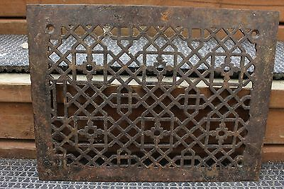 Antique Heavy Cast Iron Floor Heating Vent Grate Hardware Home Vintage Decor