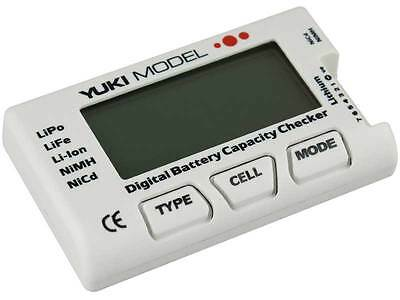 YUKI MODEL Digital Battery Akku Checker Tester NiCd  NiMH  LiFE  LiPo 700225