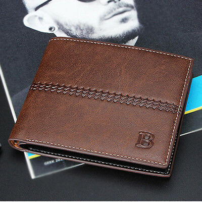 Classic Men's Bifold Leather Credit ID Card Holder Wallet Purse Billfold Clutch