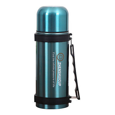 ZHENSHUI 1200 ML Stainless Steel Vacuum Bottle Thermos Blue C1F8