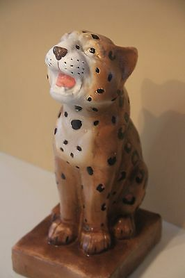 "Cheetah Leopard Statue Resin? 14"" Tall Cat Hunting African Figurine"