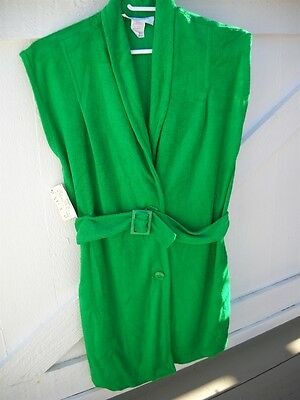 NWT 1970's Swimsuit Cover Up by CHANTEL - NORDSTROM Tag Green Terry Cloth