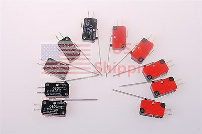 10 x Limit Switch V-153-1C25 Long Straight Hinge Lever SPDT Micro Switch 15A