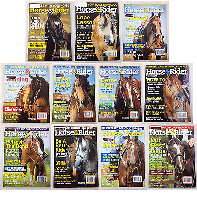 Horse & Rider Magazine Lot of 11 Issues 2015 Western Training How-To Exercises +