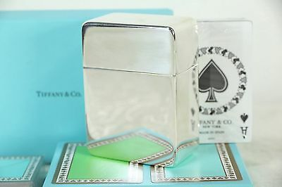 Tiffany Signed Sterling Silver Antique Playing Card Case, Tiffany Cards