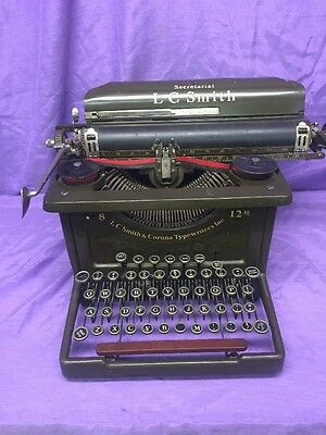 Antique Vintage Lc Smith & Corona 8/12 Typewriter Secretarial-Green Military?