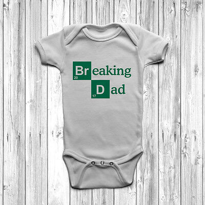 Breaking Dad Baby Grow Body Suit Vest 0-18 Months Funny Joke Cute Breaking Bad