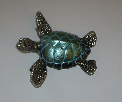 "Sea Turtle Figurine Teal Sealife Wild Animal 3.5"" Wide New Sold Individually"