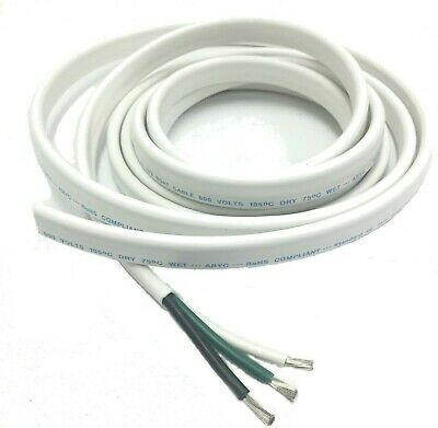 10/3 AWG Gauge Marine Grade Wire AC, Boat Cable, Tinned Copper, Flat Tiplex