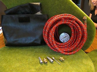GM On-Board Air Compressor Tire Inflator Hose with Gauge and attachments