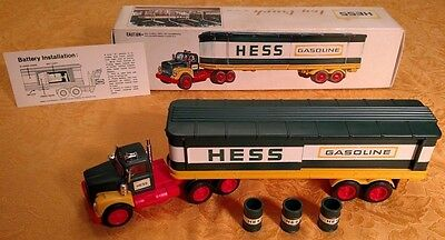 Vintage 1976 HESS Barrel Truck COMPLETE with Box, Barrels and Battery Card -Nice