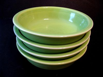 Fiesta Fiestaware Homer Laughlin set of 4 Soup Salad Cereal Bowls Chartreuse