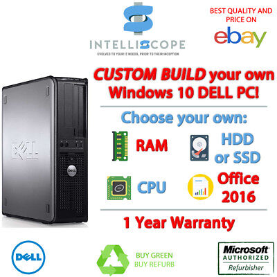 Custom Spec PC Dell OptiPlex Desktop Computer HDD RAM Processor Windows 10