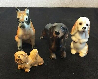 Small Figurines Of Different Dogs Lot Of 4