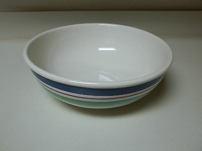 Furio Italy Stoneware Large Serving Bowl 12 Inch Blue Green Purple Border