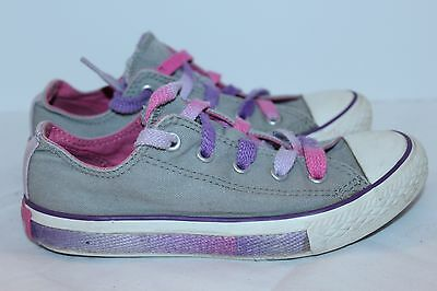 Converse Girl's Two Tongue Purple & Gray Chuck Taylor Shoes---1