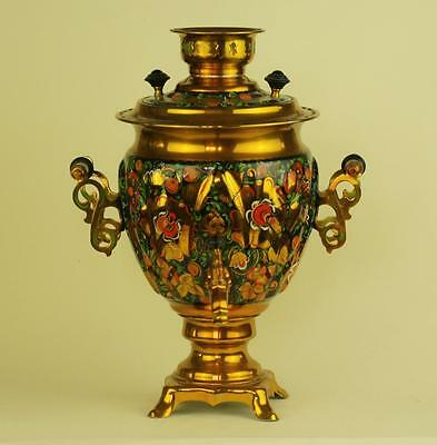 Exclusive USSR Russian Electric Decorated Hand Painted Samovar .