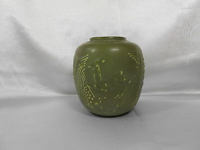 "Vintage 1931 Rookwood 4 1/2"" Arts And Crafts Vase With Deer On It"