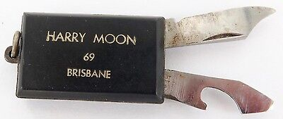 Brisbane, Australia. Vintage Miniature Advertising Folding Knife. Harry Moon.