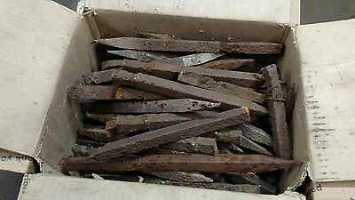 "40# Antique Vintage Wrought Iron 1/2"" X 1/2"" 100+Yrs Blacksmith Anvil Tongs"