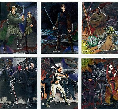 Star Wars Heritage Wave 1 - Complete Chase Card Set (1-6) 2004 Topps @ Near Mint