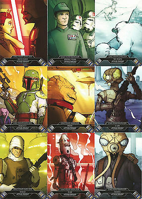 Star Wars Illustrated Empire Strikes Back Complete Card Set (1-100) @ Near Mint