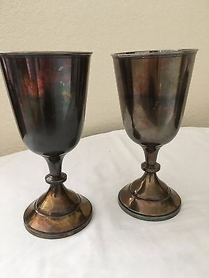 Victorian ear circa 1860's silver plated goblets or communion cups -2
