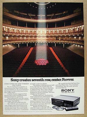 1983 Sony CDP-101 CD Compact Disc Player 'Introducing' vintage print Ad