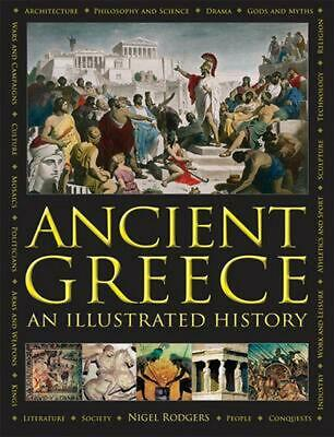 Ancient Greece: An Illustrated History by Nigel Rodgers Hardcover Book Free Ship