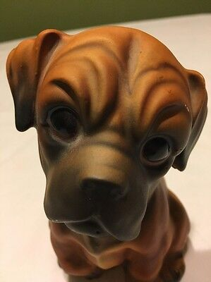 Vintage Norleans Japan Ceramic Boxer Puppy Dog Vase / Planter 5.5""