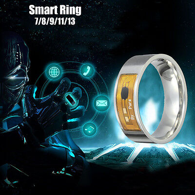Stainless Steel NFC Smart Magic Gold Ring Wearable For Samsung IPhone Android