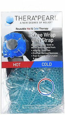 TheraPearl Knee Wrap, Reusable Hot Cold Therapy Pack with Gel Beads, Best Ice &