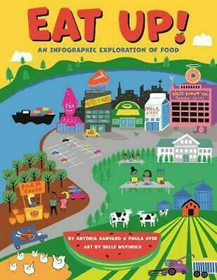 Eat Up!: An Infographic Exploration of Food by Paula Ayer Hardcover Book Free Sh