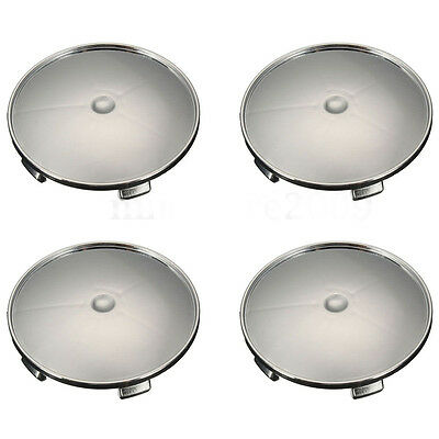4Pcs a set For Audi Honda VW BMW 68mm Chrome Wheel Rim Center Hub Caps Emblem