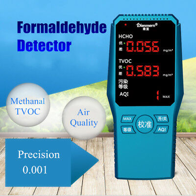Digital Formaldehyde Detector HCHO TVOC Meter Indoor Home Air Gas Quality Tester