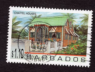 1996 Barbados $1.10 Chattel Houses SG1095 FINE USED R32921