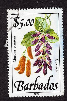 1989 Barbados $5 Cowitch SG935 FINE USED R32059