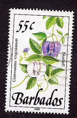 1989 Barbados 55c Bluebell SG898 FINE USED R32060