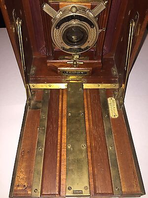 Antique 4x5 camera century model 46 with Bausch and Lomb lens.
