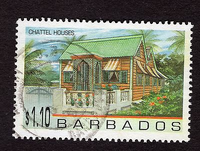 1996 Barbados $1.10 Chattel Houses SG1095 FINE USED R32923