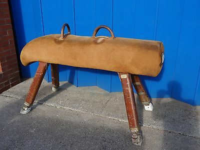 Original Victorian Vintage Old School Gymnasium Gym Pommel Horse Shop Display