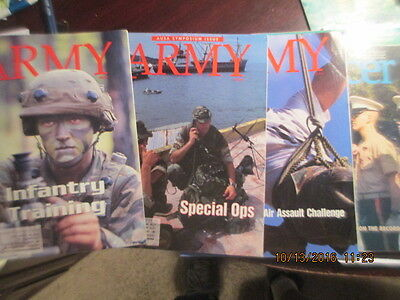 Army AUSA magazine back issue LOT Special Ops Assault Challenge Infantry Office
